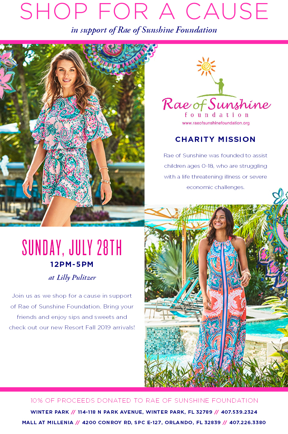Join us for a day of shopping and supporting families in need.